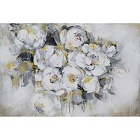 Olieverf schilderij 140x70cm Witte rozen