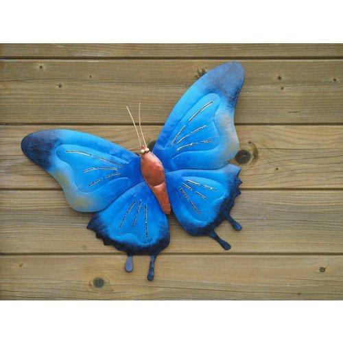 Eliassen Vlinder 45cm metaal blauw