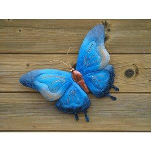 Eliassen Vlinder 32cm metaal blauw