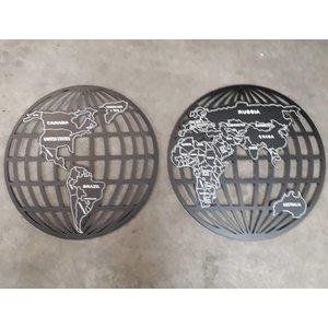 Eliassen Wanddecoratie Globe 2-delig