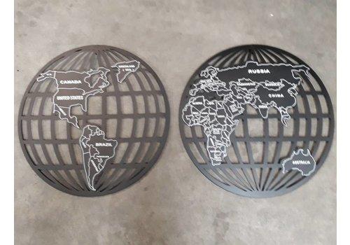Wanddecoratie Globe 2-delig