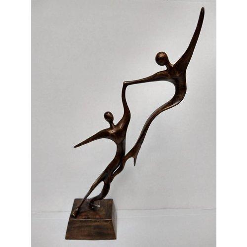 Eliassen Bronzen beeld Koppel angels