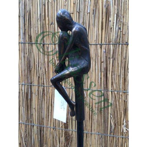 Eliassen Bronzen tuinsteker Meisje klein B
