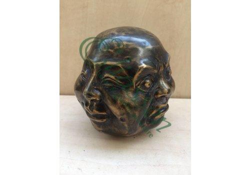 Bronzen beeld 4 Gezichten