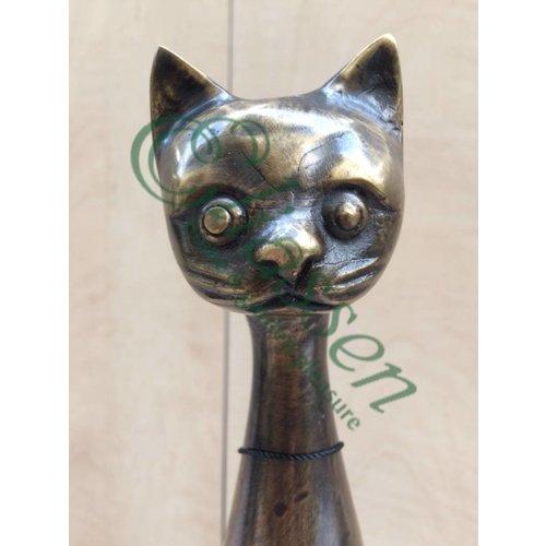 Eliassen Bronzen beeld Kat lange nek