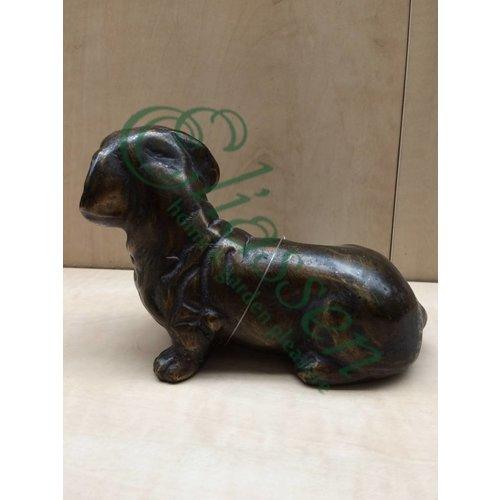 Eliassen Bronzen beeld Tekkel