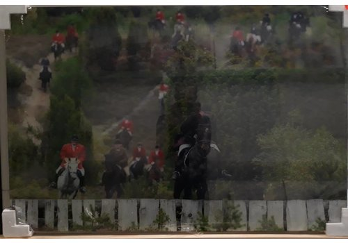 Schilderij glas Vossenjacht 120x80cm