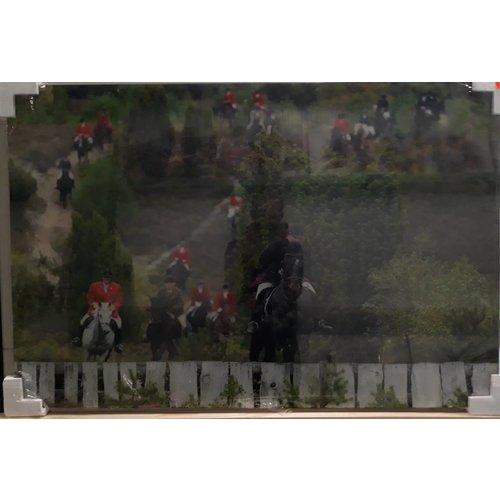 MondiArt Schilderij glas Vossenjacht 120x80cm