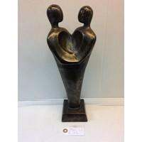 Bronzen beeld Koppel Hart