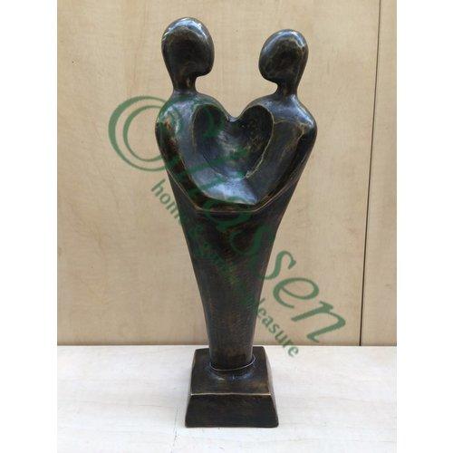 Eliassen Bronzen beeld Koppel Hart