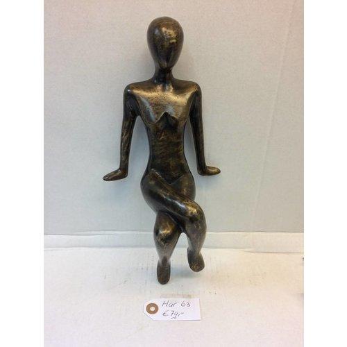 Eliassen Bronzen beeldje Zittend meisje