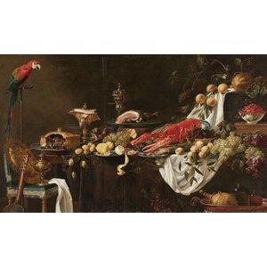 Dibond schilderij Pronk stil leven 118x70cm