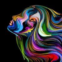 Glasschilderij Colors 100x100cm