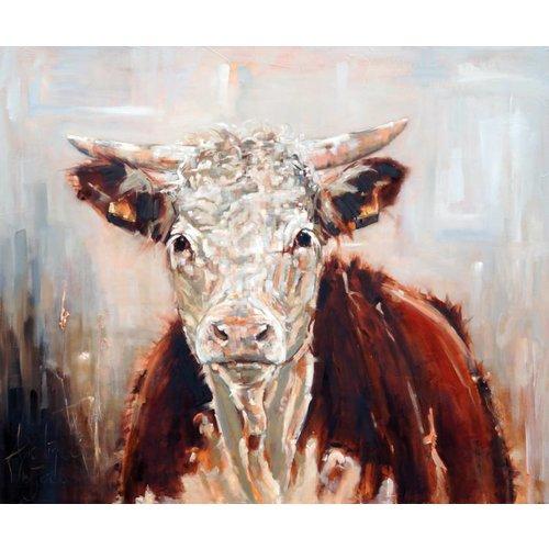 MondiArt Schilderij Jonge stier  100x120cm