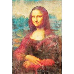 MondiArt Aluminium schilderij  Mona Lisa   80x120cm
