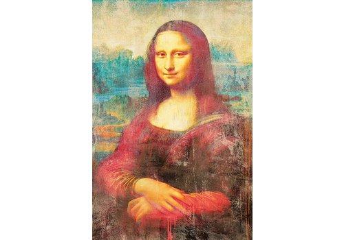 Aluminium schilderij  Mona Lisa   80x120cm