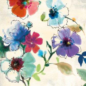 MondiArt Glas schilderij 80x80cm Fleur 2