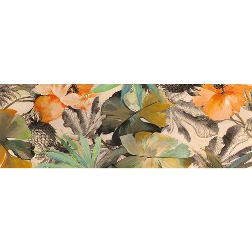 MondiArt Glas-schilderij 50x150cm Bloemen 1
