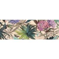 Glas-schilderij Bloemen 50x150cm