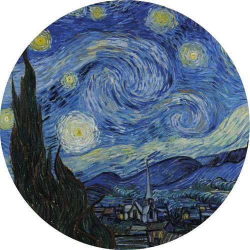 MondiArt Glas schilderij rond van Gogh dia 40cm