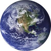 Glas schilderij rond world dia 60cm