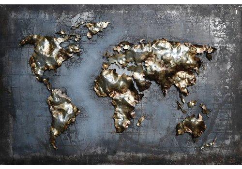 3D schilderij Globe 8 120x80cm