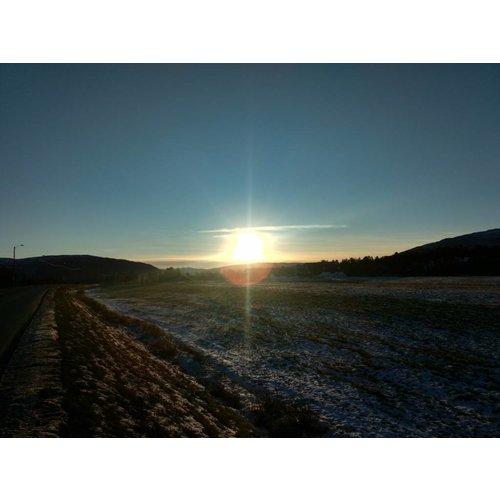 Plexiglas schilderij ondergaande zon 80x120cm