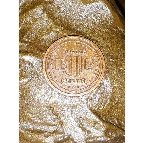 Bronzen beeld Dikke dame gym
