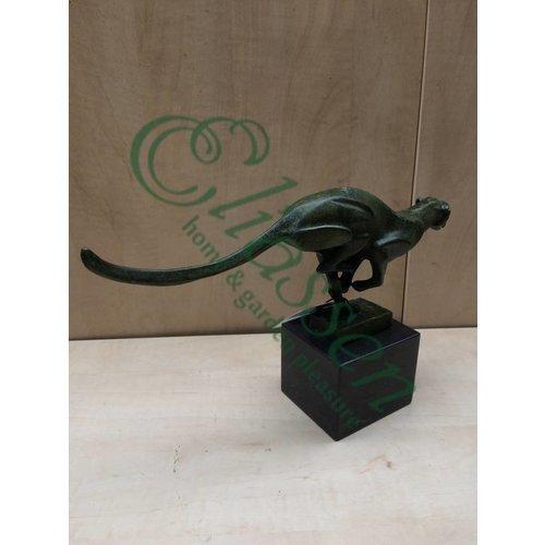 Bronzen beeld Rennende Poema