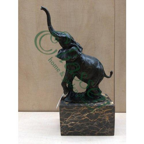 Beeld brons Olifant slurf omhoog