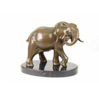 Beeld brons Olifant 25cm
