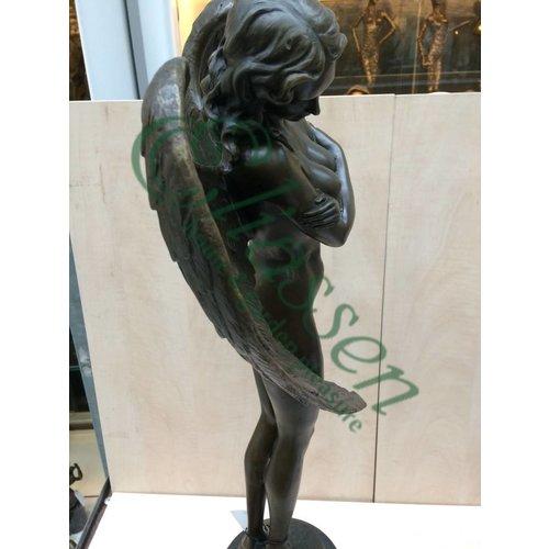 Bronzen beeld Gevleugelde nacht