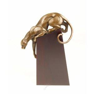 Beeld brons Sluipende panter
