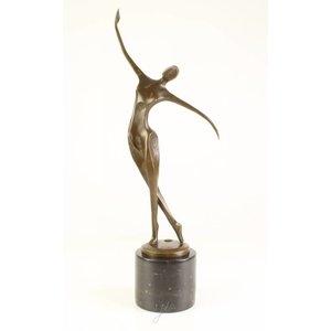 Bronzen beeld Moderne dansende vrouw