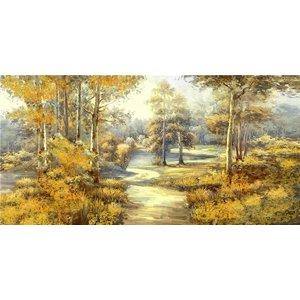 Olieverf schilderij Zanderig 60x150cm