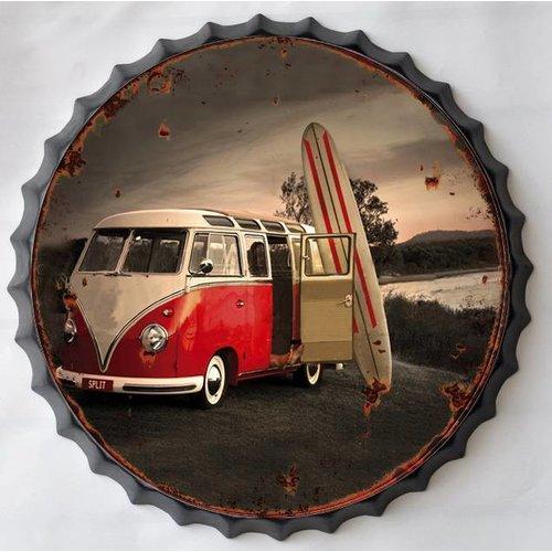 Wanddecoratie bierdop Surfen