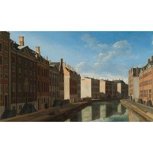 Schilderij Dibond Herengracht Amsterdam Gezicht op de gouden bocht