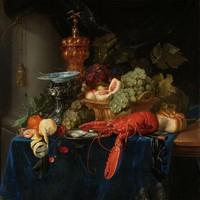 Dibond schilderij Stilleven met gouden bokaal