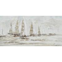 Canvas schilderij 140 x 70cm Ocean dark