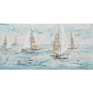 Canvas schilderij 140 x 70cm Ocean blue