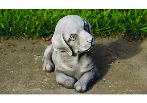 Tuinbeeld puppie hond