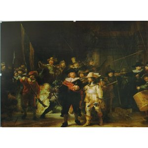 Eliassen De Nachtwacht glasschilderij 80x120cm