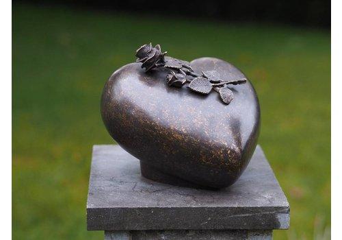 Urn brons met roos