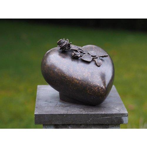 Eliassen Urn brons met roos