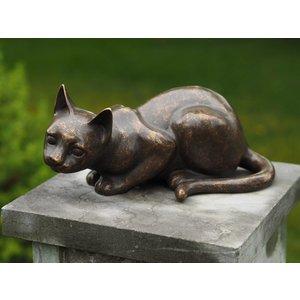 Eliassen Bronzen beeld Liggend poesje