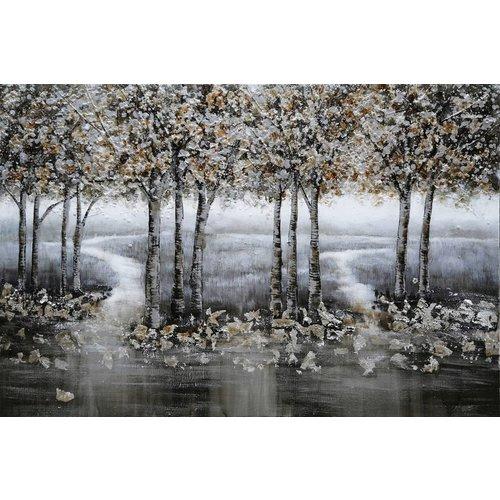 Canvas schilderij 80x120cm Bos