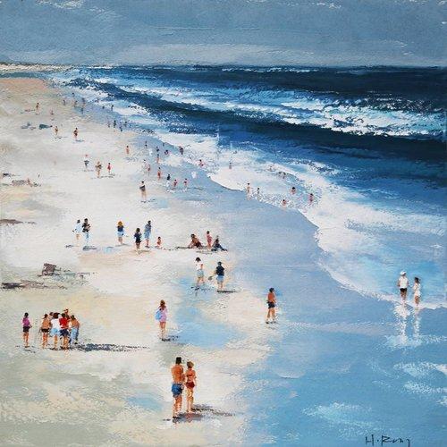 Canvas schilderij 100x100cm Strand