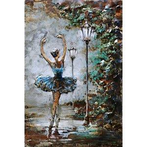 Eliassen Metalen 3d schilderij 80x120cm Ballerina