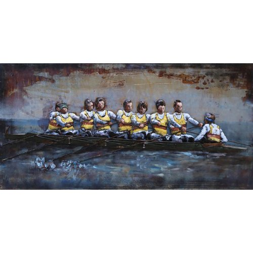 Eliassen Metalen 3d schilderij 140x70cm K8 roeiers