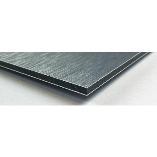Dibond schilderij 74x74cm Zilver